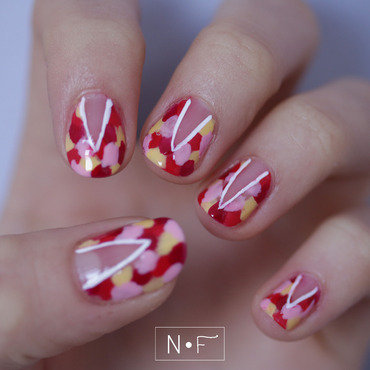 Colourful for spring nail art by NerdyFleurty