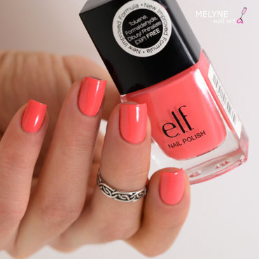 elf Coral Dream Swatch by melyne nailart