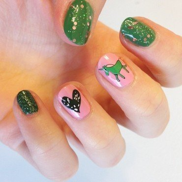 Tacky Unicorn Decals nail art by Kristina