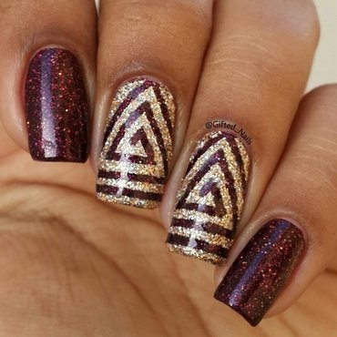 triangle swirls nail art by Gifted_nails