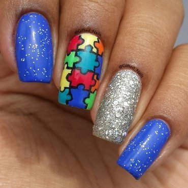 autism awarness nails nail art by Gifted_nails