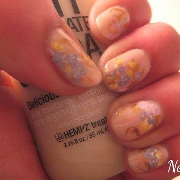 spring nails nail art by Nell_Q