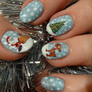 Christmas 2014 nail art by Nail Crazinesss