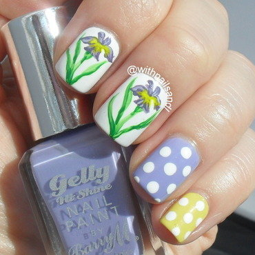 Spring Iris nail art by WithnailsandI