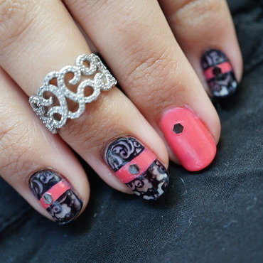 baroque nails nail art by Cathy Neves