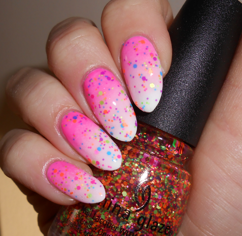 Electric Nights Gradient nail art by MyMintNails