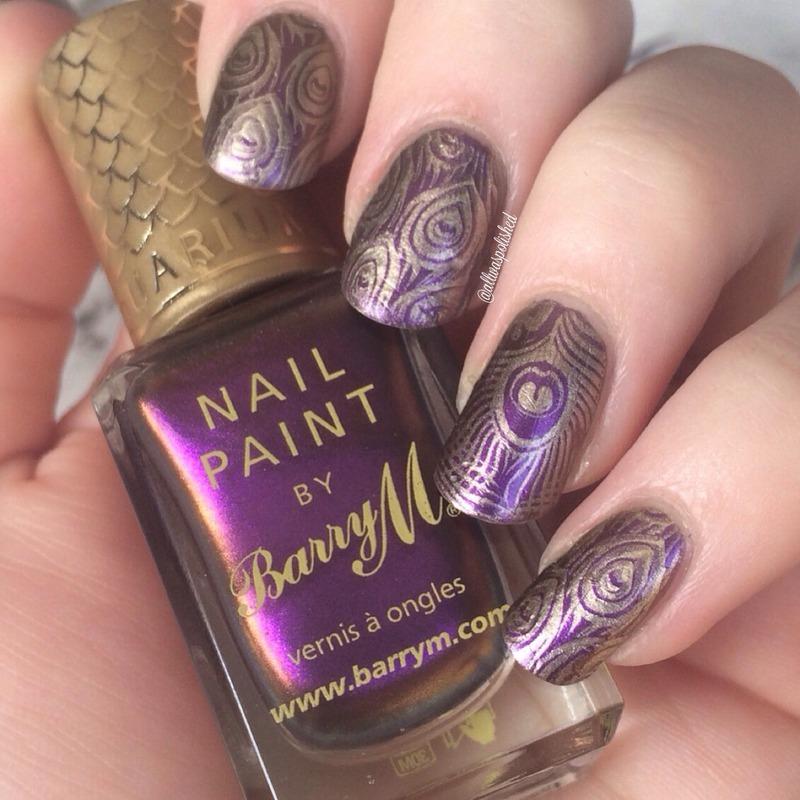 Peacock nail art by allwaspolished