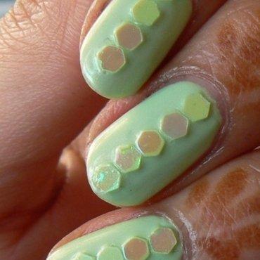 Lime Lustre nail art by Aysha Baig