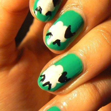 Sheep Nails nail art by Aysha Baig