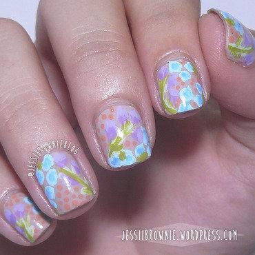 WNAC - Pastel - Floral nail art by Jessi Brownie (Jessi)