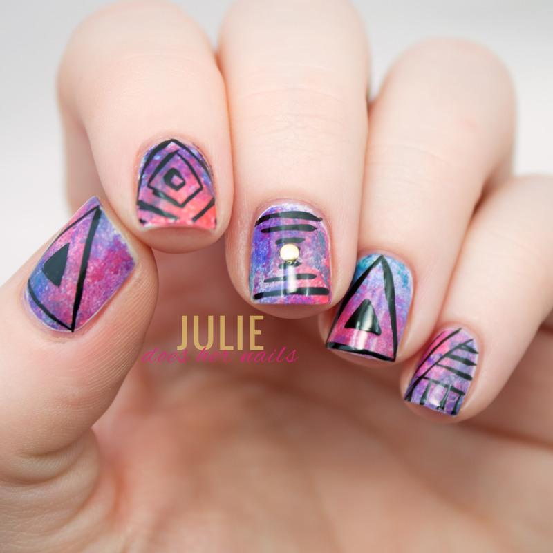 Hipster Illuminati Music Festival Nail Art nail art by ...