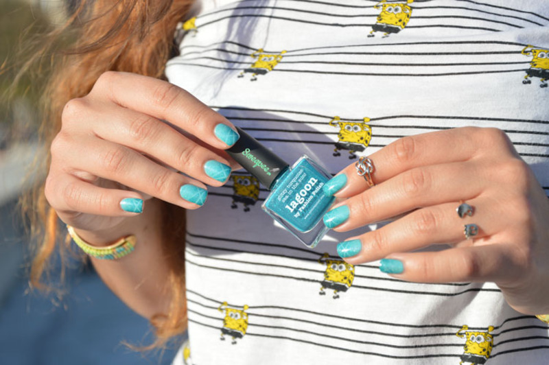 50 shades of Turquoise nail art by Sweapee