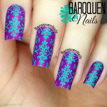 Bright Brocade nail art by BaroquenNails