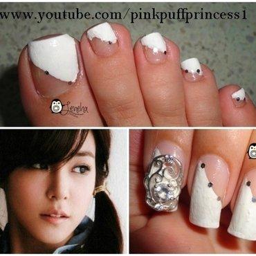 White Mani Pedi nail art by Leneha Junsu