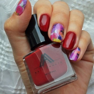 Precious orchids nail art by Roxy Ch