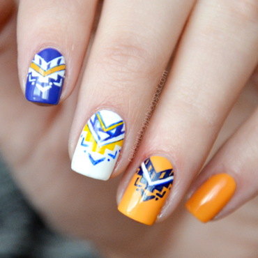 Aztec nails nail art by bopp