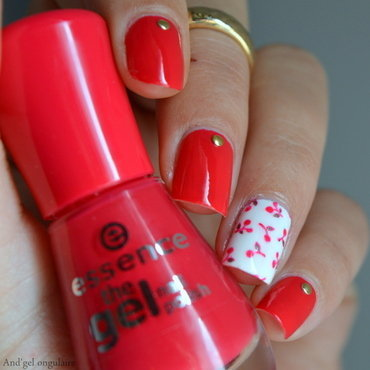 Le temps des cerises nail art by And'gel ongulaire