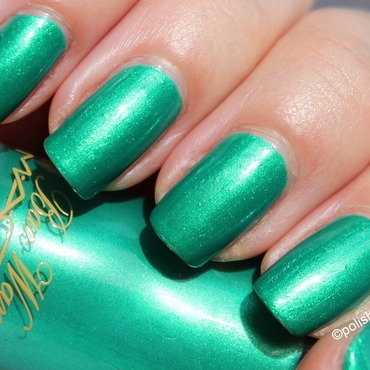Mac Imperial green Swatch by Polished Polyglot