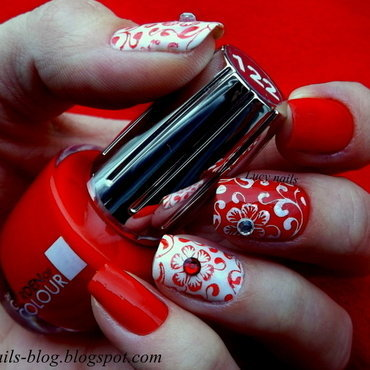 Lady in red  nail art by Lucynails26