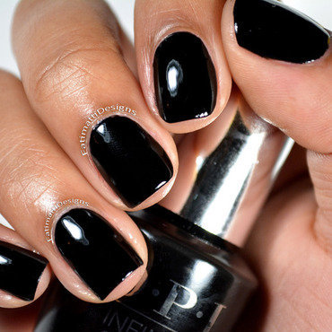 OPI Infinite Shine We're in the Black Swatch by Fatimah