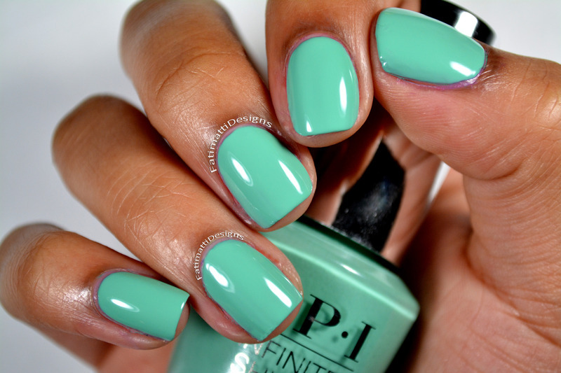 OPI Infinite Shine Withstands the Test Of Thyme Swatch by Fatimah