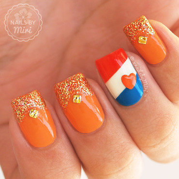 Dutch Kingsday Nails nail art by xNailsByMiri