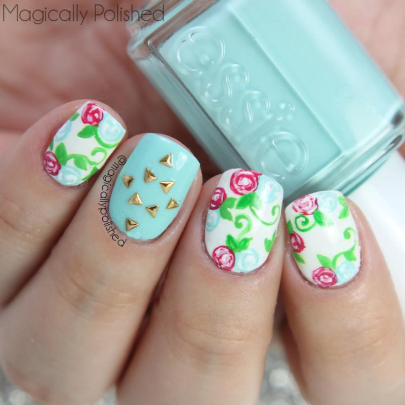 Floral Nails nail art by Ana