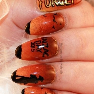 ANZAC Day 2015 nail art by  Kyleigh  'Handmade By Kyleigh'
