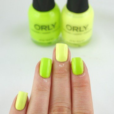 Orly Key Lime Twist and Orly Thrill Seeker Swatch by Ann-Kristin