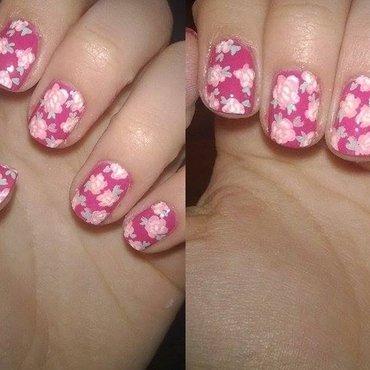 We love pink! nail art by Natalia D.
