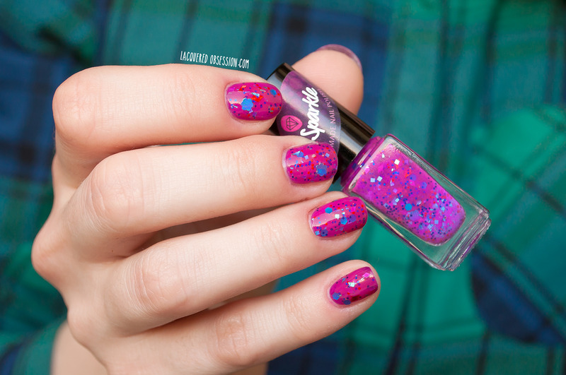Ms. Sparkle Orchideous Swatch by Lacquered Obsession