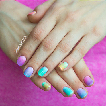 DIY Sheer Tints  nail art by Lacquered Obsession