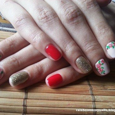 Roses #2 nail art by specialle
