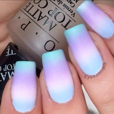 Pastel gradient  nail art by Virginia