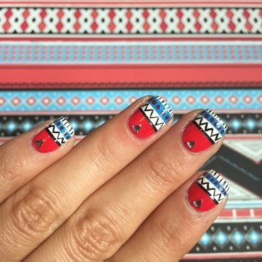 Tribal nail art by Ashley