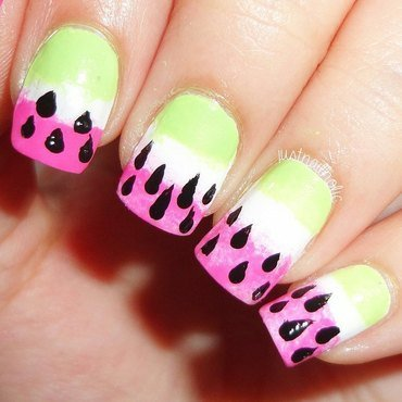 Watermelon nail art by Melany Antelo