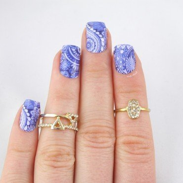 "Miss Sophie's Nail Wraps ""Arabian Nights"" nail art by Ann-Kristin"