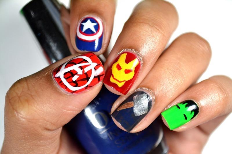 Disney Marvel's The Avengers nail art by Fatimah