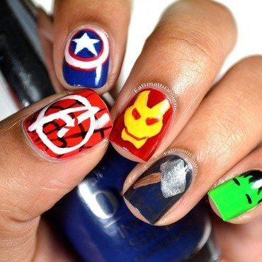 Disney Marvel's The Avengers nail art by Fatimah