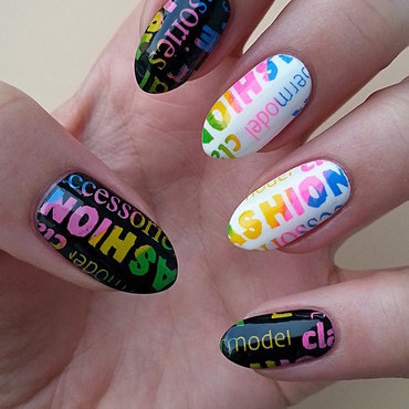 Stamping Maniac Project - Multi-color nail art by Mgielka M