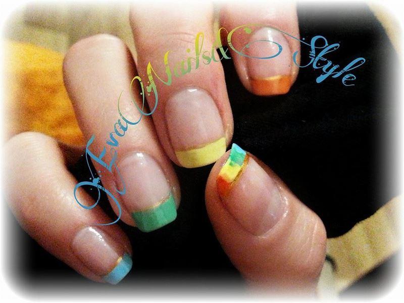 I love this color nail art by Ewa EvaNails