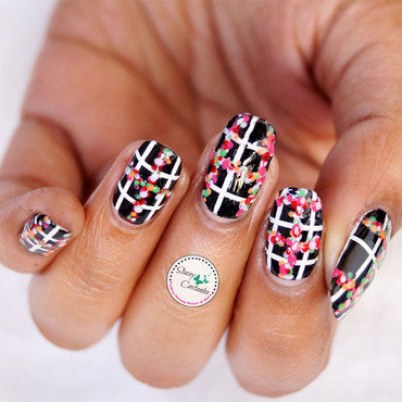 Colourful Dotticure Grid nail art by Stacey  Castanha