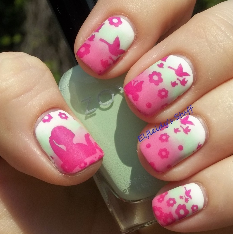 Stamping Sunday 4-26-2015 nail art by Jenette Maitland-Tomblin