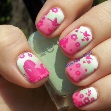 Stamping Sunday 4-26-2015 nail art by Jenette Maitland-Tomblin