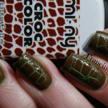 mi-ny croc color #03 Brown and Frammenti 01 Jungle Queen Swatch by Francine
