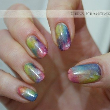 Age of Aquarius (a kind of) nail art by Francine