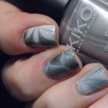 Steel Flowers nail art by Francine