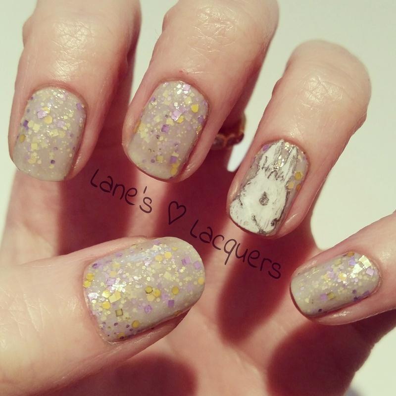 Hare Polish nail art by Rebecca