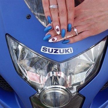 Suzuki nails. nail art by Paula215. NAILS