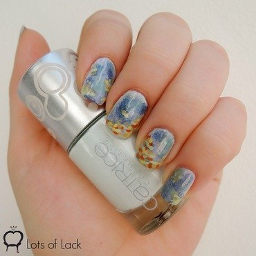 Monet meets Van Gogh nail art by LotsOfLack